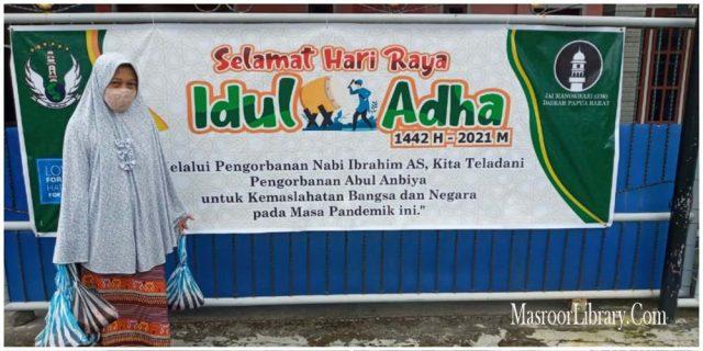 Shalat Idhul Adha dan Pemotongan Hewan Qurban JAI Papua Barat Tetap Patuhi Protokol Kesehatan