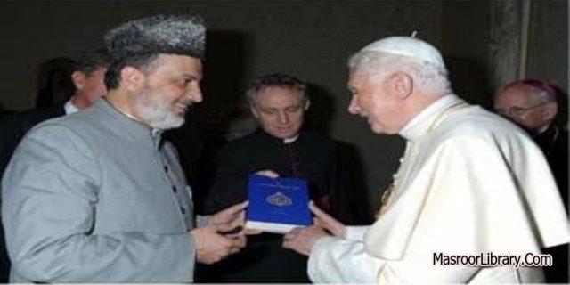 Surat Khalifatul Muslim Ahmadiyah Kepada Paus Binediktus XVI